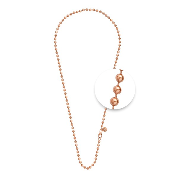 Necklace • Kugelkette | Rosé Plattiert