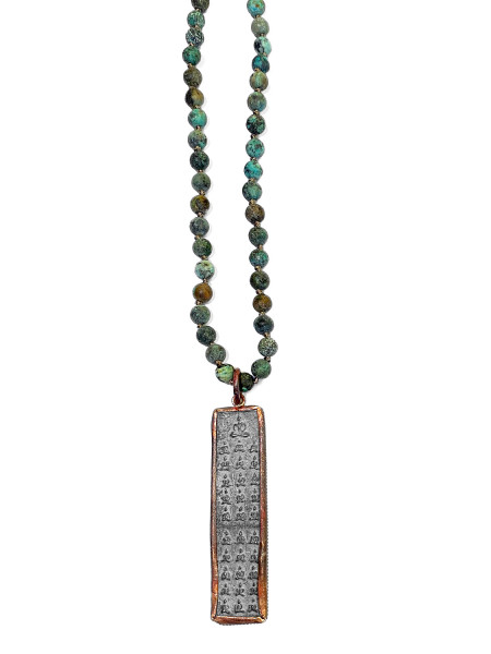 ICON • Kette Buddha61 | African Turquoise | Tibetian Agate