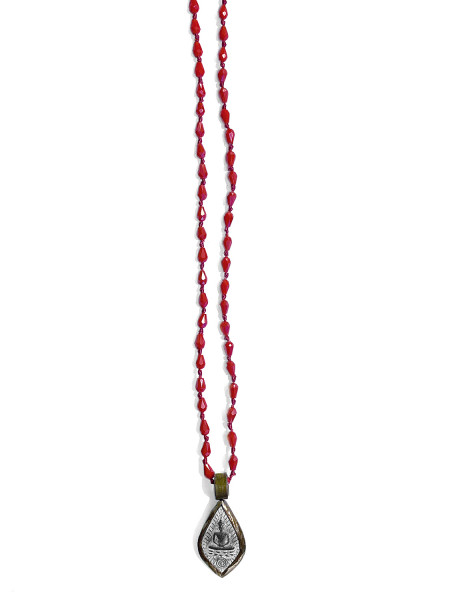 ICON • Kette Buddha4 | Drop Crystal | Pink