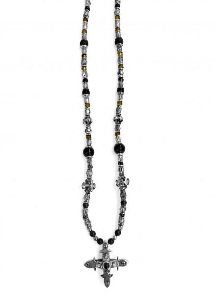 Halskette • Tubes & Smith Cross | Beads & Blades Cross Balls | 4 Black Diamonds