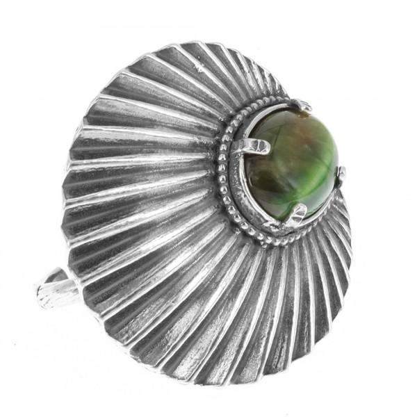 Ring • Alchemy of Soul   Green Tigereye