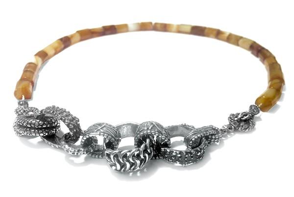 Kette • Vintage Stone | Agate | Silver