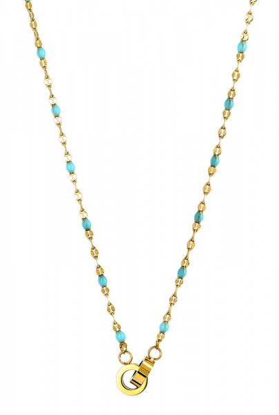 Kette • Zag | Pearls Turquoise
