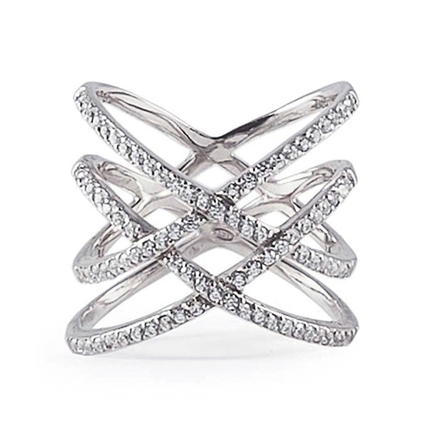 Ring • Twisted Pavé Lines