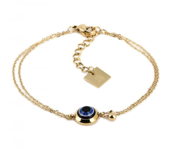 Armband • ZAG | Double Nazar Eye | Blue
