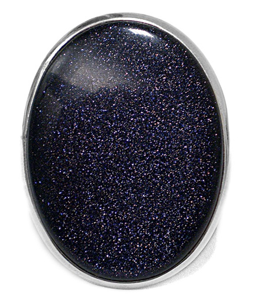 Steinring • Goldfluss | Blau