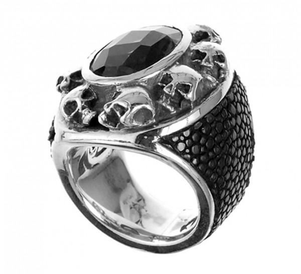 Ring • Oval Skull Frame | Leather