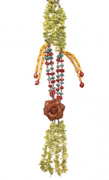 Steinkette • Flower | Coral