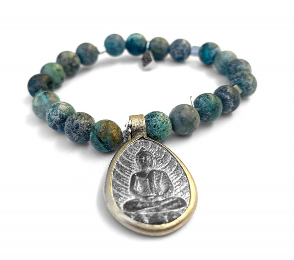ICON Armband • SHARON BUDDHA25 | African Turquoise | Opal | Agate | Fossil | Lava
