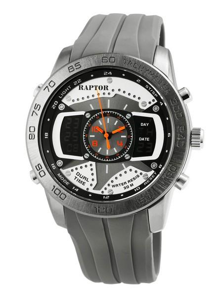 Raptor • Analog-Digital Herren-Uhr | 2 Zeitzonen