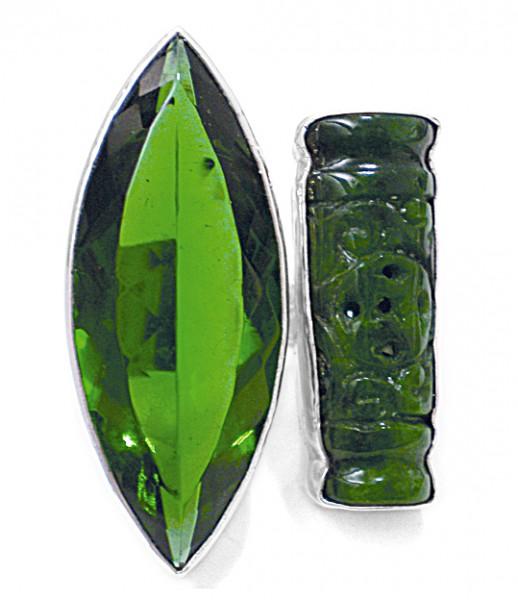 Steinring • Chinesische Jade | Obsidian