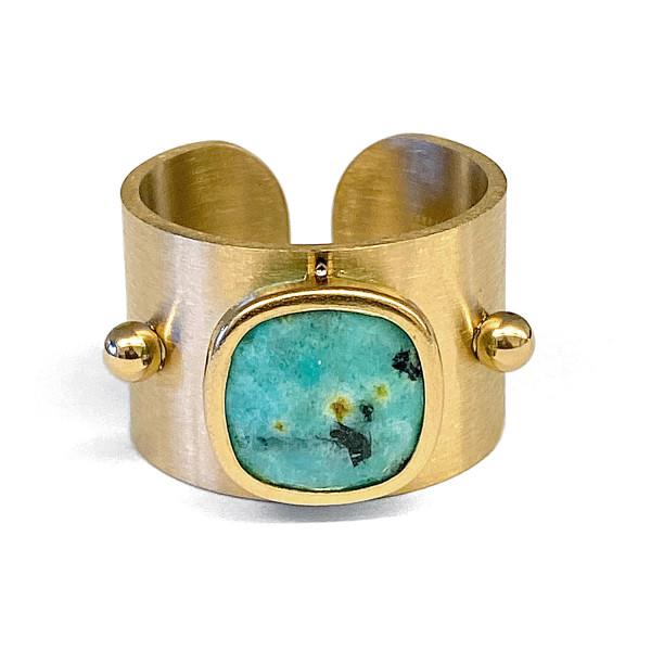 Ring • ZAG | Band | Turquoise