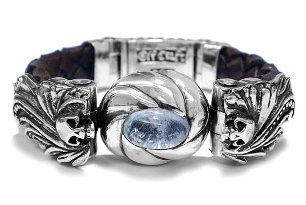 Armband • Magic Plant & Skulls | Aqua