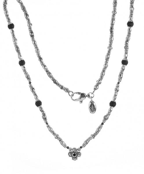 Halskette • Beads & Tubes & Plain Cross