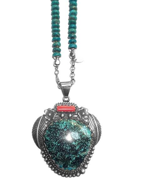 Kette • Turquoise Pendant | Howlite