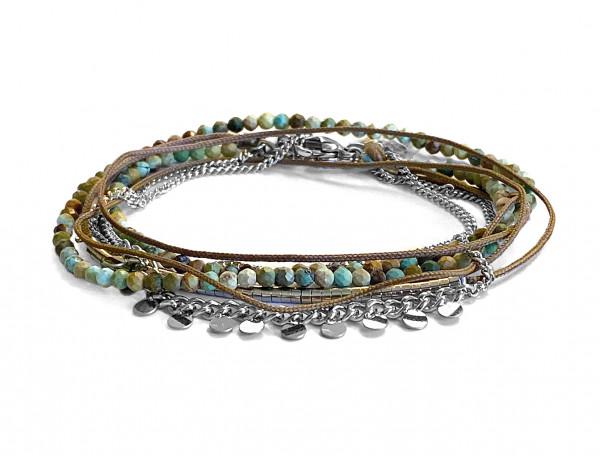 Armband • Zag | Wrapbead Dots | Turquoise