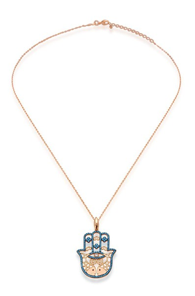 Kette • Hamsa Necklace | Turquoise