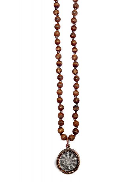 ICON • Kette Buddha Wheel | Agate