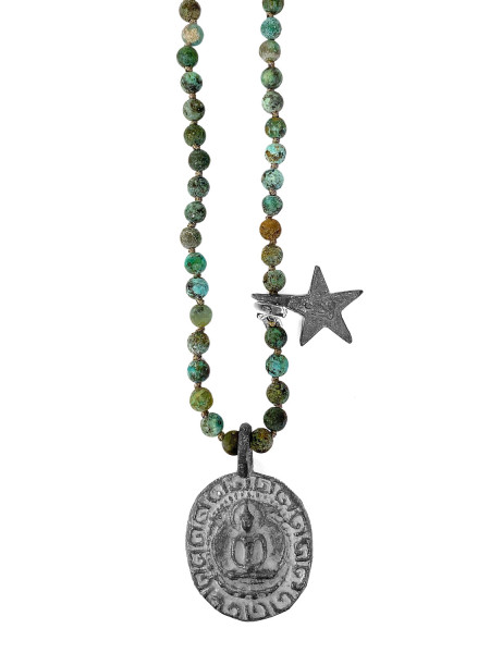 ICON • Kette Buddha38 Star | African Turquoise