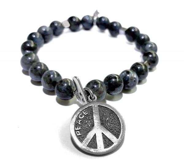 ICON Armband • Shanti Peace Love Joy | Labradorite