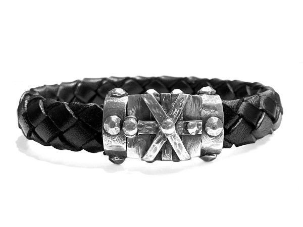 Armband • Cross Bound X | Hammered Bands 13