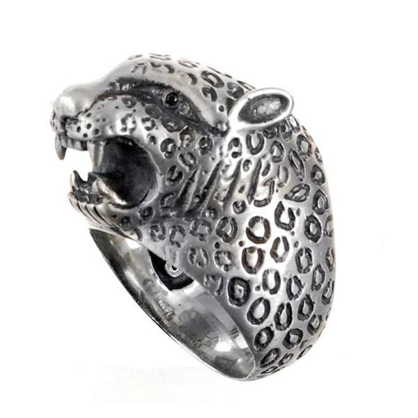 Ring • Leopard Head L & Leo Band & Diamond Eyes