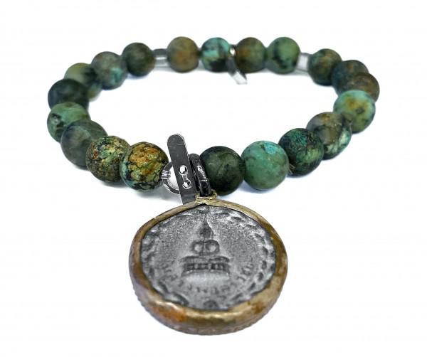 ICON Armband • Shanti Buddha23   African Turquoise