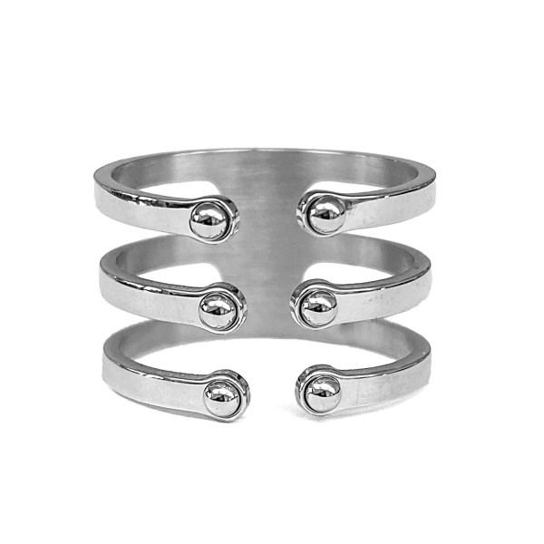 Ring • ZAG | 3 Bands Open | Dots