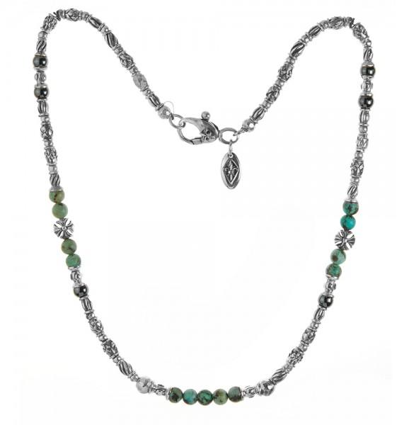 halskette • Tubes Decor & Malteser Cross Beads & Stone Beads