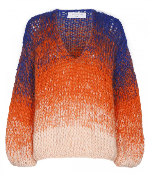 STRICKPULLOVER • V-NECK Oversized | Pink | Orange | Cobalt
