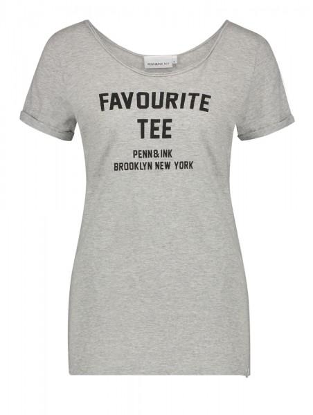 T-Shirt • Tee Print | Favourite Tee | Grey | Orange | Asphalt