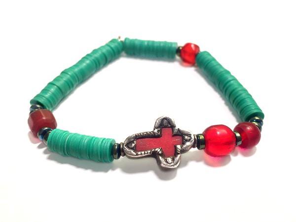 Armband • Cross | Bakalite Turquoise oder Rosa