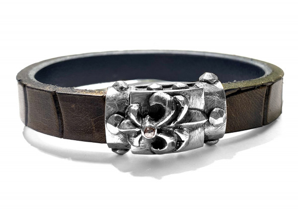 Armband • Lily Boxlock Facetted | Meteorite | Python 13 mm