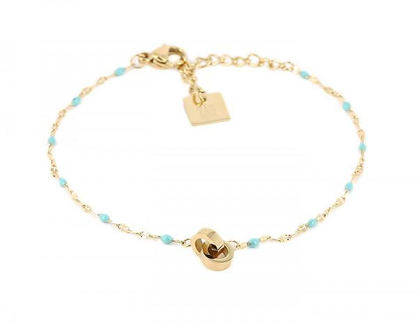 Armband • Zag | Pearl Turquoise
