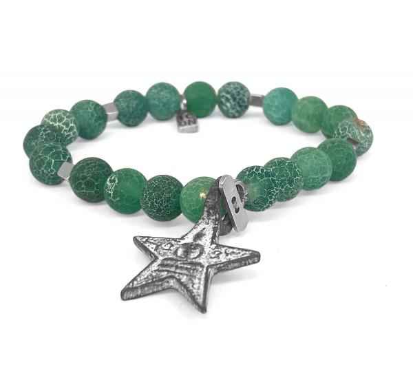ICON ARMBAND • Shanti Buddha Star | Green Agate
