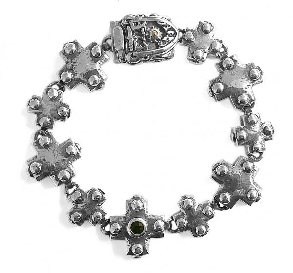 Armband • Beads & Plain Cross & Lance Cross Balls | Shildlock | Meteorite