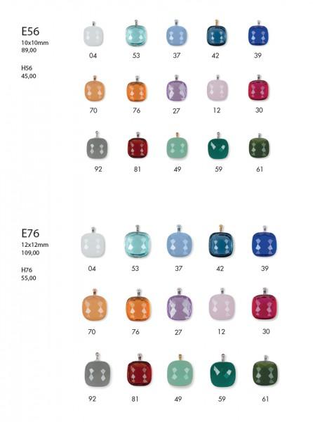 Creolen-Wechselsystem-Einhänger | E56 | E76 • Facettiertes Quarzglas