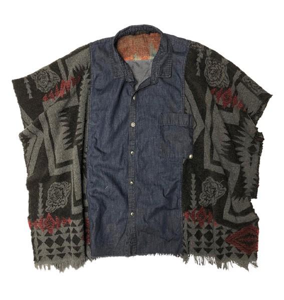 Poncho | Kurzarm Oversized • Lady Rider Poncho Shirt