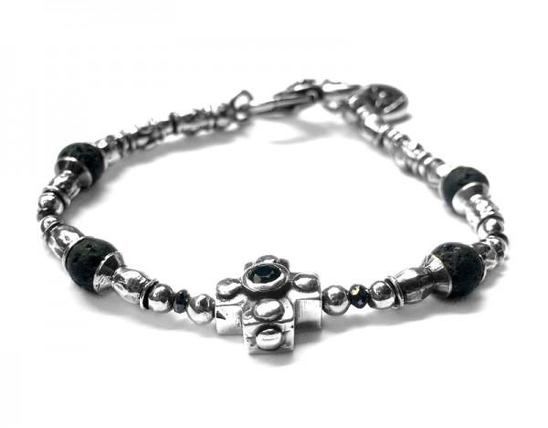 Armband • Bracelet Tubes & Plain Cross & Beads