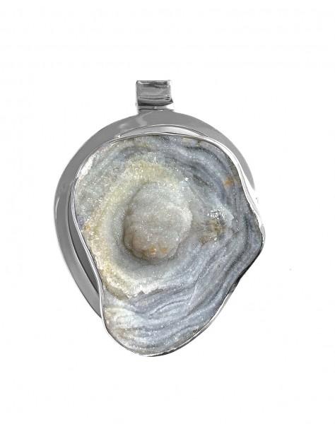 Steinanhänger • Chalcedon-Rosette