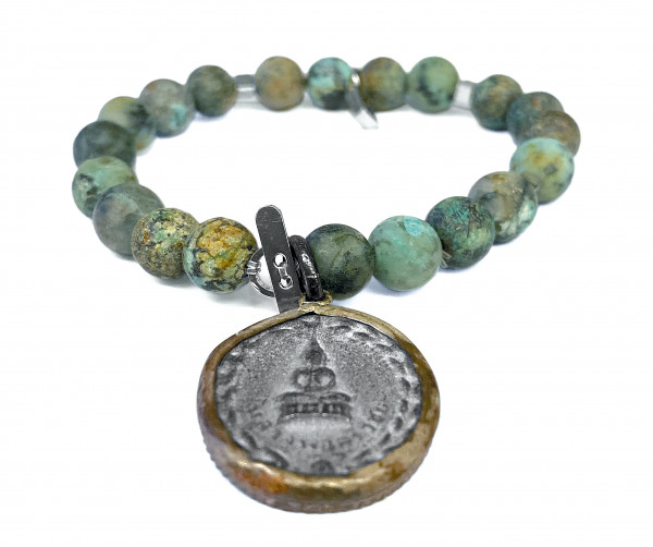 ICON Armband • Shanti Buddha23 | African Turquoise
