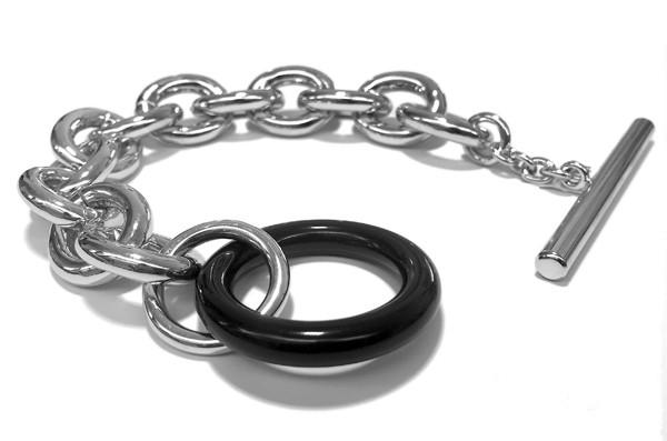 Armband • CORA | Resin Round | Black