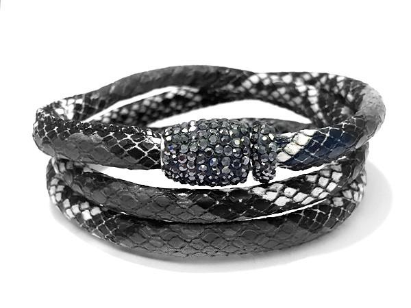 Wickelarmband • Snake & Glam | Grey | Blue | Nature