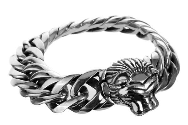Armband • Lion Head L & Diamond Eyes