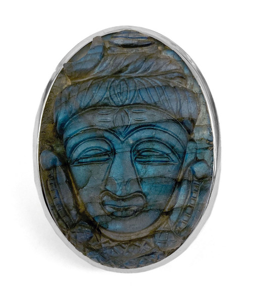 Steinring • Labradorit | Buddha