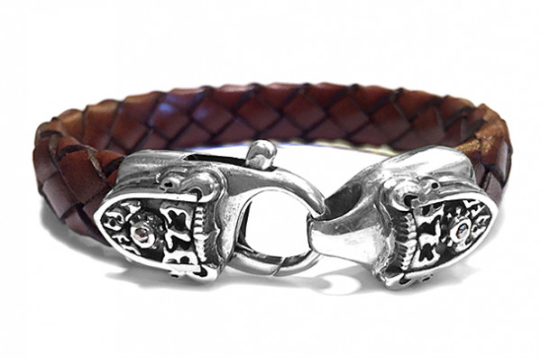 Armband • Lobster Claw & Shield Meteorite