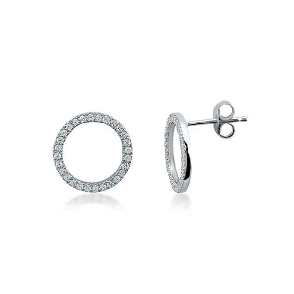 Ohrstecker • Circle of Life Earrings | Rhodiniert