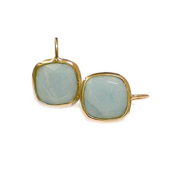 Ohrringe Style • Gold Plattiert |Natursteine